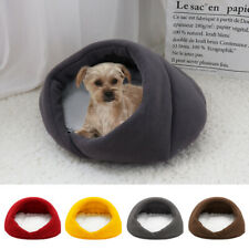 Cozy Cat Dog Cave Bed with Fleece Sleep Mat Small Puppy Indoor Igloo Kennel XS S