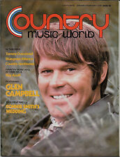 Country Music World  Magazine Jan/Feb 1973 Glen Campbell Roy Acuff Connie Smith