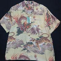 New SUN SURF Hawaiian Shirt FIGHTING DRAGON TIGER 2007 Model 2 Color Aloha F/S