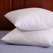Set of 2, Down and Feather Throw Pillow Insert, 100% Cotton, 18x18 inch