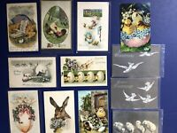 12 Easter Chicks etc. Antique Postcards 1900s. Collector items. Nice Value