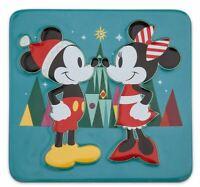 DIsney Mickey, Minnie Mouse SANTA CHEER Holiday Trivet Christmas Castle Star NEW
