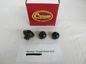 WILLYS JEEP CJ2A CJ3A CJ3B CJ5 CJ6 TRUCK WAGON SHIFT KNOB SET T90 DANA 18 NEW! !