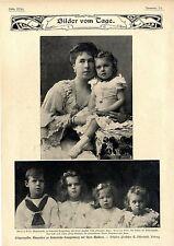 Die Erbprinzessin Alexandra zu Hohenlohe-Langenburg mit ihren Kindern Pri...1904
