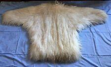 Giacca Pelliccia Capra Mongola / Tibetana - Pelo Bianco Lungo- Mai Usato
