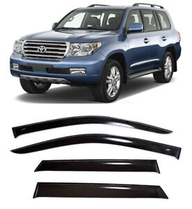 For Toyota Land Cruiser 200 2007- Window Visors Rain Guard Vent Deflectors