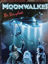 Michael Jackson Autographed Signed Moonwalker Storybook