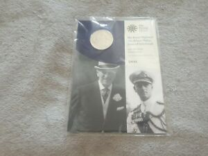Prince Philip 90th Birthday 2011 £5 Five Pound Coin, BUNC The Royal Mint