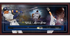 AARON JUDGE Autographed New York Yankees Framed Bat Collage Shadowbox FANATICS