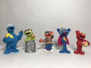 Sesame Street Figures Lot (2008, Mattel) - Cookie Monster, Elmo, Grover, Ernie..