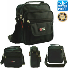 Black Waterproof Business Crossbody Messenger Shoulder Briefcase Belt Hip Bag