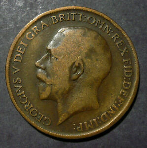 1911 Great Britain 1 Penny