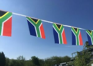 Super Republic of South Africa Fabric Bunting 18ft / 20 Flags Free1st Class Post