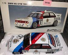 """1:18 AUTOart 89145 BMW M3 E30 DTM """"WARSTEINER"""" J.CECOTTO 1991 #3 (3115)"""
