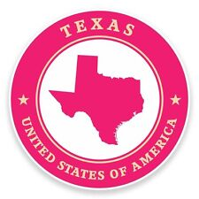 2 x Texas USA Vinyl Sticker Car Travel Luggage #9460
