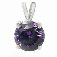 1.25 ct. Amethyst Solitaire Pendant Necklace in Solid Sterling Silver ~ Gift box