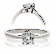 Unbranded Platinum Solitaire Fine Rings