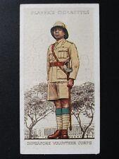 No.50 SINGAPORE VOL CORPS Military Uniforms of the British Empire Overseas 1938