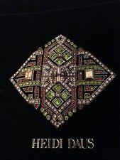 HEIDI DAUS Brown & Green Diamond-Shaped Pin Brooch PEARL ENHANCER