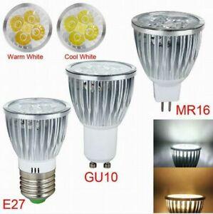 New E27 GU10 MR16 9W 12W 15W LED Lamp Spotlight Warm/Cool White DC12v/AC85-26V