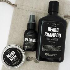 Big Forest Beard Care Kit: Beard Shampoo, Beard Oil & Beard Balm
