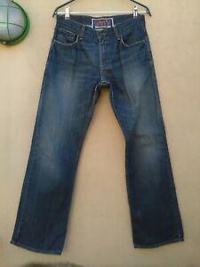 Levi's 527 Low Boot Cut W30 L30 Levis jeans uomo D1092