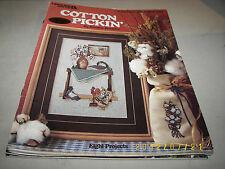 Cotton Pickin' Cross Stitch Design Frankie Buckley Leisure Arts Leaflet 481
