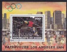 Sport Hochsprung Olympiade Los Angeles 1984 Niger Block 42, gest.