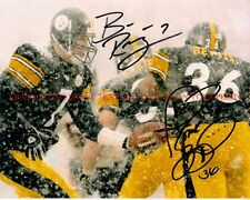 BEN ROETHLISBERGER AND JEROME BETTIS SIGNED AUTOGRAPHED 8x10 RP PHOTO STEELERS