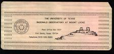 2 Vintage IBM Punch Cards With McDonald Observatory Logo Fort Davis TX IBM 1800