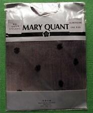 MARY QUANT AUBERGINE SPOTTY SHEER 100% NYLON STOCKINGS Vintage Sheer Stockings