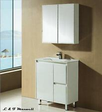 Slim Bathroom Vanity with Finger Pull Soft Close Door and Ceramic Basin 750mm