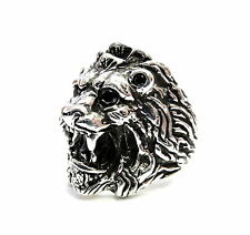 Black Diamond Men's  Lion  Ring By Sacred Angels
