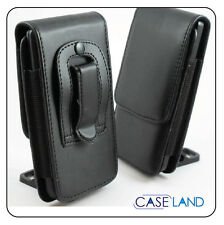 B1 - BLACK VERTICAL LEATHER BELT CLIP POUCH CASE COVER FOR HTC ONE SENSATION XL