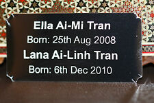 Personalised Name plate NAMEPLATE plaque engraved up to 4 lines 75x37 mm concave
