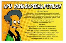 (P125) Simpsons Postcard Apu Nahasapeemapetilon
