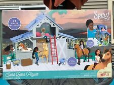 Just Play Spirit Barn Playset Dreamworks Classic Series Netflix 23 Pieces