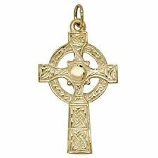 9ct Gold Celtic Cross Large