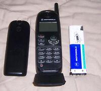 Vintage Motorola Voicestream 92302 92302XWXBA Black Cellular Phone - Untested