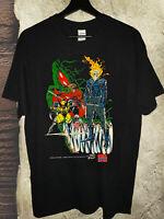 Marvel X-Men Wolverine Gambit Ghost Rider Comic Strip T-Shirt vtg 1993 RARE