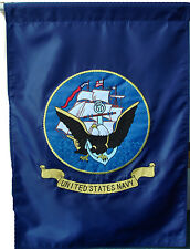 """New listing Us Navy 28x40 Embroidered Flag United States Navy 2 double sided Banner 28""""x40"""""""