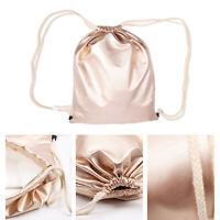 5PCS Lots Metallic PU Big Drawstring Tote Backpack Rucksack Shoulder Bag Gold