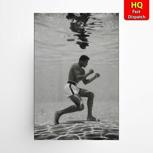Muhammed Ali Underwater Gym Boxing Legend The Goat Poster Art A2