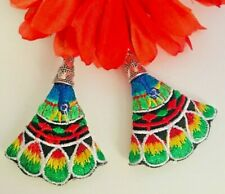 Ethnic Style Embroidery Design Earrings Statement Drop/Dangle Aretes BordadosNEW