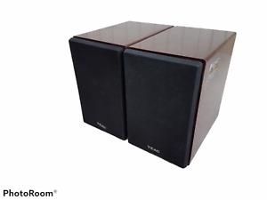 Pair of 2 Teac LS-MC95 Bookshelf Speakers Wood Woodgrain Tested Working
