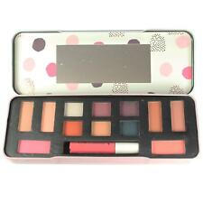 Make Up Palette Kit Tin Gift Set By L&K Nude Eyeshadow Bronzer Blusher Lipgloss