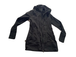 Athleta Hoodie Jacket M  Womens M Medium Long Full Zip Charcoal Gray Black