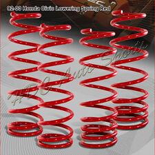 For 1992-2000 Honda Civic Jdm Red Suspension Coil Lower Lowering Springs Kit