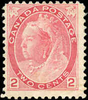 1899 Mint H Canada F Scott #77 2c Queen Victoria Numeral Issue Stamp