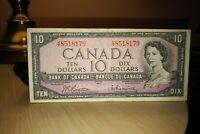 1954 $10 Dollar Bank of Canada Banknote VT8518179
